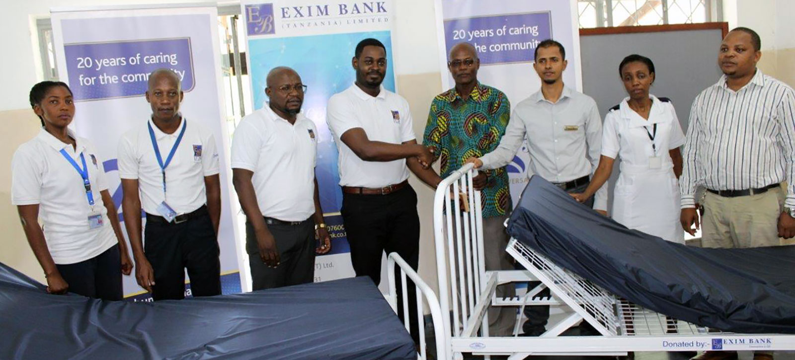 Relief to the Tanga Referral Hospital through Exim Bank's Year-long Campaign