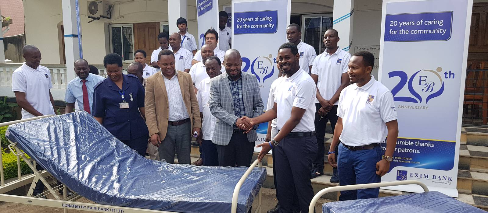 Exim Tanzania donating beds and mattresses to Mount Meru Regional Hospital in Arusha